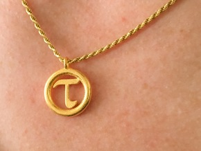 Tau Open Unit(cm) Pendant in Polished Gold Steel