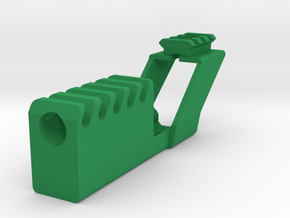 Airsoft Compensator with Top Rail for G17 and G18C in Green Processed Versatile Plastic