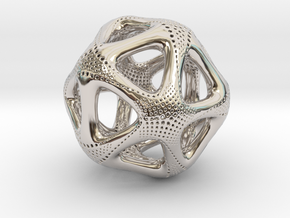Perforated Twisted Icosahedron Type 1 in Platinum