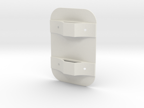 Tank Mounting Bracket in White Natural Versatile Plastic