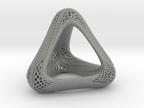 Perforated Tetrahedron  in Gray Professional Plastic