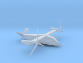 1/285 Scale Attack Bell V-280 Valor In Flight in Smooth Fine Detail Plastic