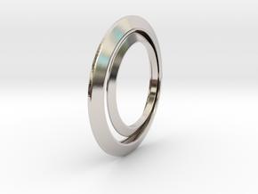 Luna earrings in Rhodium Plated Brass