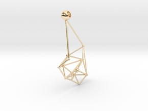 Space earrings in 14k Gold Plated Brass