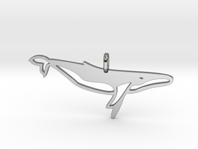 Whale pendant in Fine Detail Polished Silver