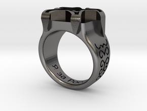 Russian Ring in Polished Nickel Steel: Medium