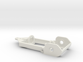 "motor holder 4 ""Back to '60"" 1/24 slotcar chassis in White Natural Versatile Plastic"