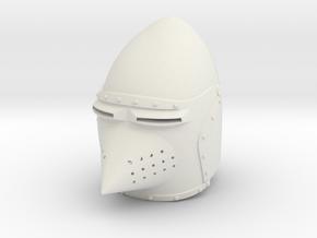 Hounskull Bascinet (Full) in White Natural Versatile Plastic: Small