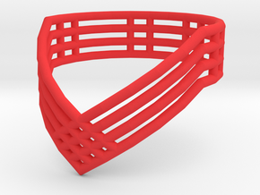 """Vector Ring"" (Short) Size: 7 in Red Processed Versatile Plastic"