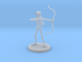 Skeleton Archer in Smooth Fine Detail Plastic