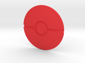 Poke Ball in Red Processed Versatile Plastic