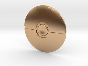 Poke Ball in Polished Bronze