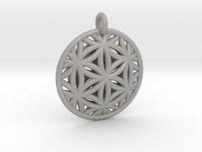 Flower of Life Pendant Type 2 in Aluminum