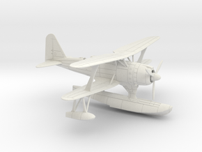 1/87 IJN Mitsubishi F1M2 'Pete' Type 0 Observation in White Natural Versatile Plastic