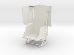 Vario UH-1 1/6 Pilot Seat  in White Natural Versatile Plastic