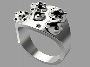 """Virus"" Ring in Polished Silver"