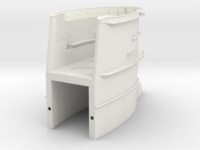 1/11 DKM U-Boot VII/C Conning Towerpart 1 in White Natural Versatile Plastic