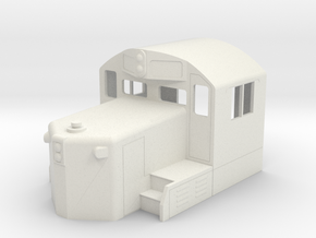 GP20 Cab & Short Hood in S Scale in White Natural Versatile Plastic