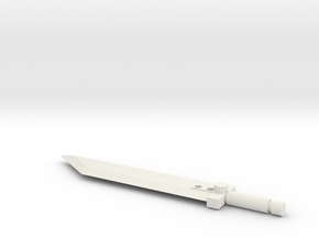 Buster Sword For Legends Class Transformers in White Natural Versatile Plastic