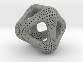 Perforated Octahedron in Gray Professional Plastic