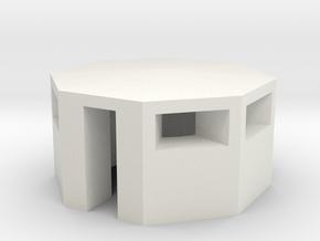 1/144 Italian Bunker in White Natural Versatile Plastic
