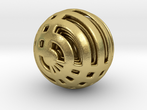 Looped Arrayed Sphere in Natural Brass