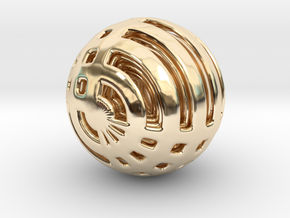 Looped Arrayed Sphere in 14k Gold Plated Brass