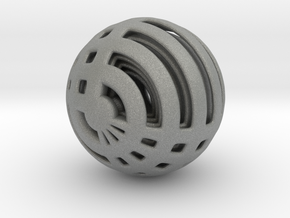 Looped Arrayed Sphere in Gray PA12