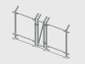 10' Fence Frame - Man Gate-L/Latch in Smooth Fine Detail Plastic: 1:87 - HO