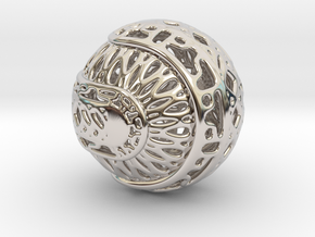 Tree of life sphere perforated in Platinum