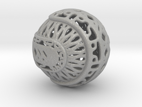 Tree of life sphere perforated in Aluminum
