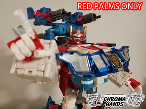 RID omega prime articulated hands - PALMS ONLY in Red Processed Versatile Plastic