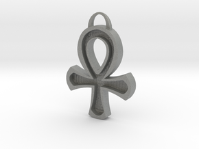 Hollowed Ankh in Gray PA12
