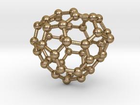 0684 Fullerene c44-56 c1 in Polished Gold Steel