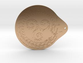 Serpent Triskelion pendant  in Polished Bronze