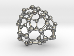 0687 Fullerene c44-59 c1 in Natural Silver