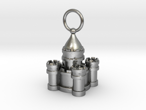 Sand Castle Charm Large in Natural Silver
