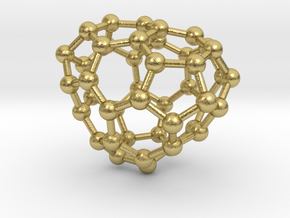 0690 Fullerene c44-62 c1 in Natural Brass