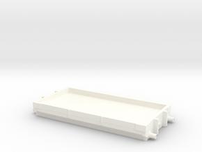 LNWR LMS 1plank open Diagram 1 in White Processed Versatile Plastic