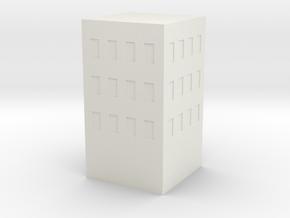 Simple Building in White Natural Versatile Plastic: Medium