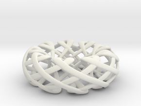 Counter rotating Torus with Celtic knots in White Natural Versatile Plastic