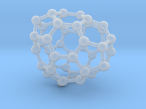 0691 Fullerene c44-63 c1 in Smooth Fine Detail Plastic