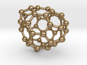 0691 Fullerene c44-63 c1 in Polished Gold Steel