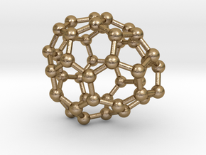 0692 Fullerene c44-64 c1 in Polished Gold Steel