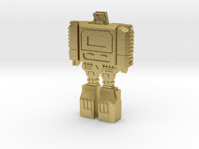 Retro Time Robot in Natural Brass