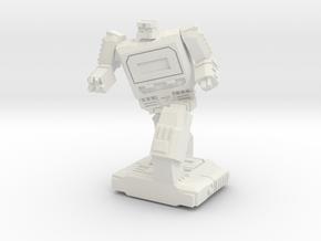 Retro Time Robot Pose #2 in White Natural Versatile Plastic