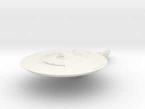 "Discovery time line USS Nelson 4.6"" in White Natural Versatile Plastic"