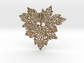 Leaf01 Pendant Steel in Polished Gold Steel