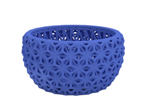 Tealight holder in Blue Processed Versatile Plastic
