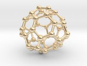 0700 Fullerene c44-72 d3h in 14k Gold Plated Brass